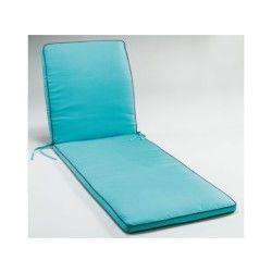 Matelas pour bain de soleil bicolore bleu turquoise / anthracite 55 x 185 cm