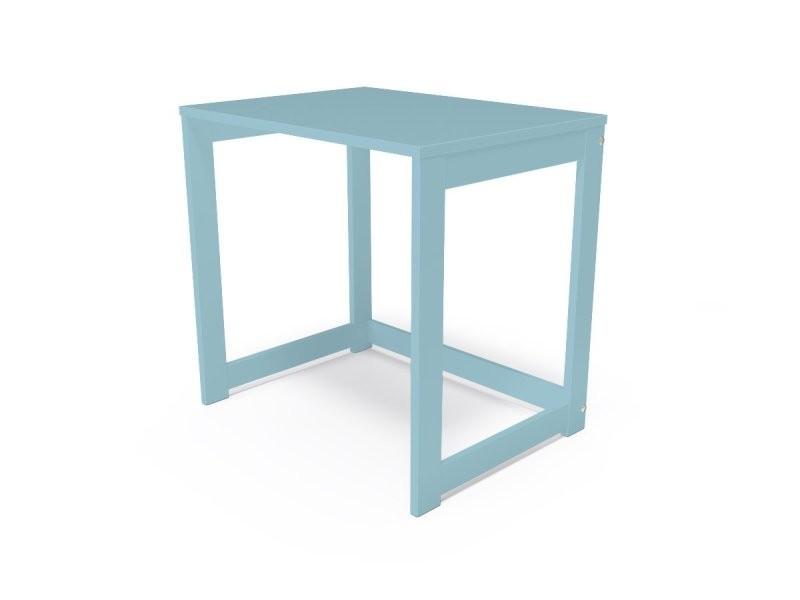 Bureau alban bois massif bleu pastel BURALB-BP