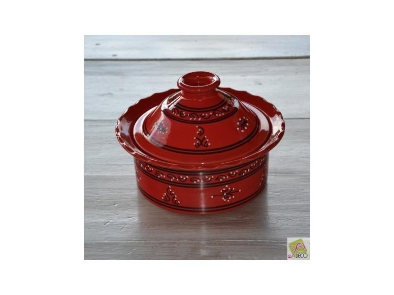 D 25 cm Cocotte Querouana Bakir rouge