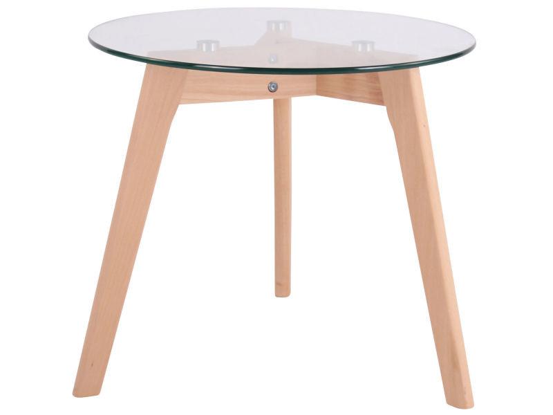Table d'appoint avec plateau de verre motala , verre clair/50 cm