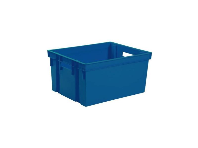 Eda bac de rangement manutention avec 2 poignées - 20 l - bleu