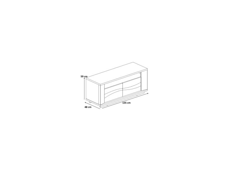ensemble meuble tv 300 cm contemporain david ch ne clair vente de meuble tv conforama. Black Bedroom Furniture Sets. Home Design Ideas