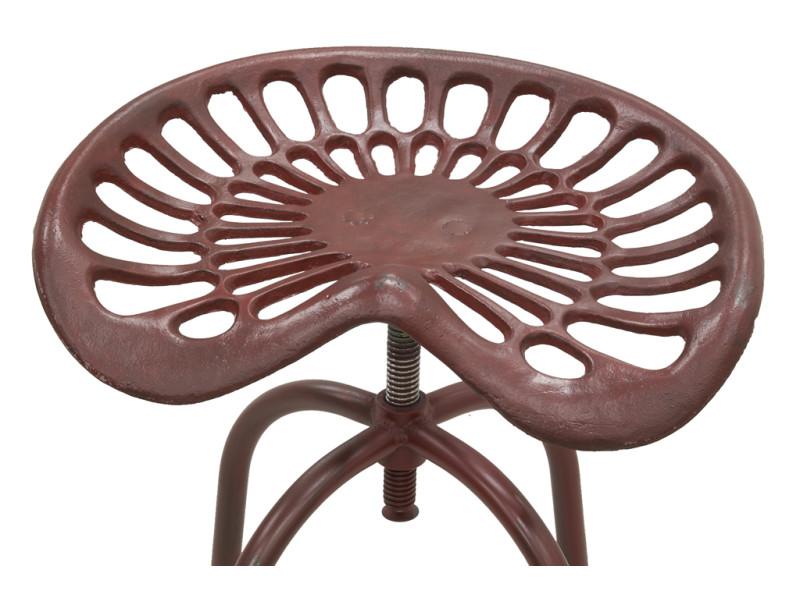 tabouret tracteur pivotant et r glable en hauteur vente de aubry gaspard conforama. Black Bedroom Furniture Sets. Home Design Ideas