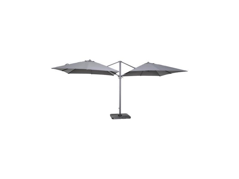 double parasol d port carr en aluminium vente de parasol tonnelle store et voile d 39 ombrage. Black Bedroom Furniture Sets. Home Design Ideas