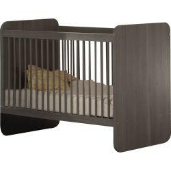 Lit évolutif pour chambre bébé coloris bouleau gris