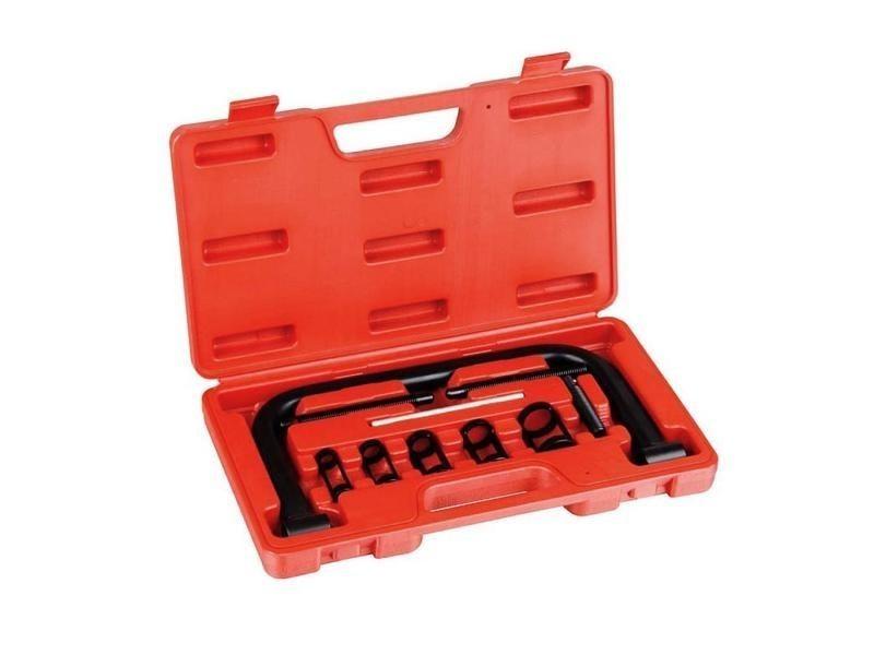 Compresseur de ressorts de soupape, boite de 11 pièces pour compresseur de ressort à soupape, 11 pièces, avec une mallette rouge, matériau: acier c45 3700778709651