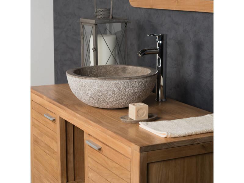 Vasque en marbre à poser stromboli gris taupe 40cm 32034 ...