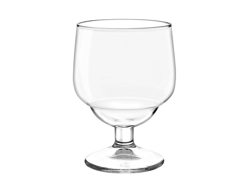 Bormioli - boite de 6 verres a pied regolo 23 cl empilables