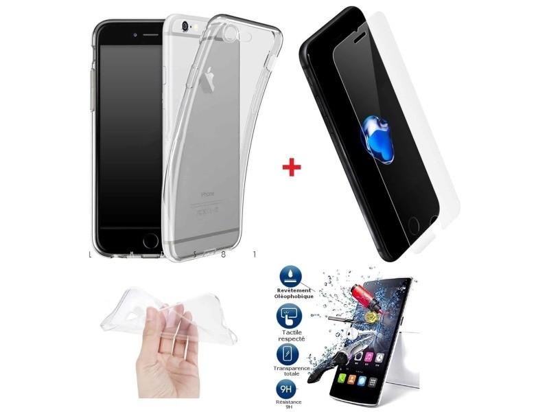 Coque avec protection écran iphone 7,iphone 8