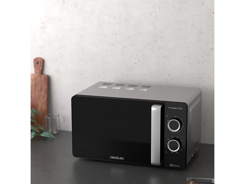 Micro-ondes de 20l avec grill et minuterie 700w noir