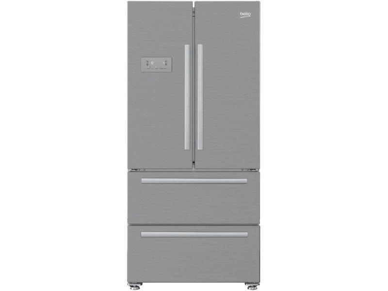 beko refrig rateur frigo am ricain us 2 portes 2 tiroirs inox 539l a froid ventil no frost. Black Bedroom Furniture Sets. Home Design Ideas