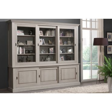 vitrine murale contemporain en bois massif 273cm coloris sahara vente de comforium conforama. Black Bedroom Furniture Sets. Home Design Ideas