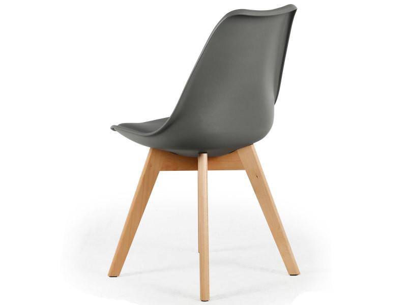 lot de 4 chaises style scandinave bovary gris vente de menzzo conforama. Black Bedroom Furniture Sets. Home Design Ideas