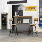 Bar industriel gris en métal  |  s539-m