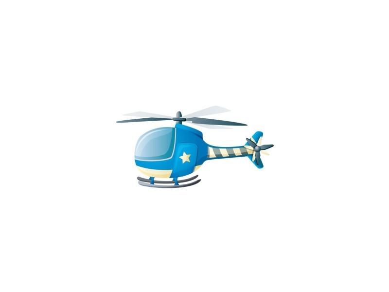 Sticker enfant : hélicoptère - format : 34 x 17 cm