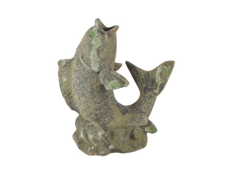 Statue de jardin poisson décoratif en terre cuite