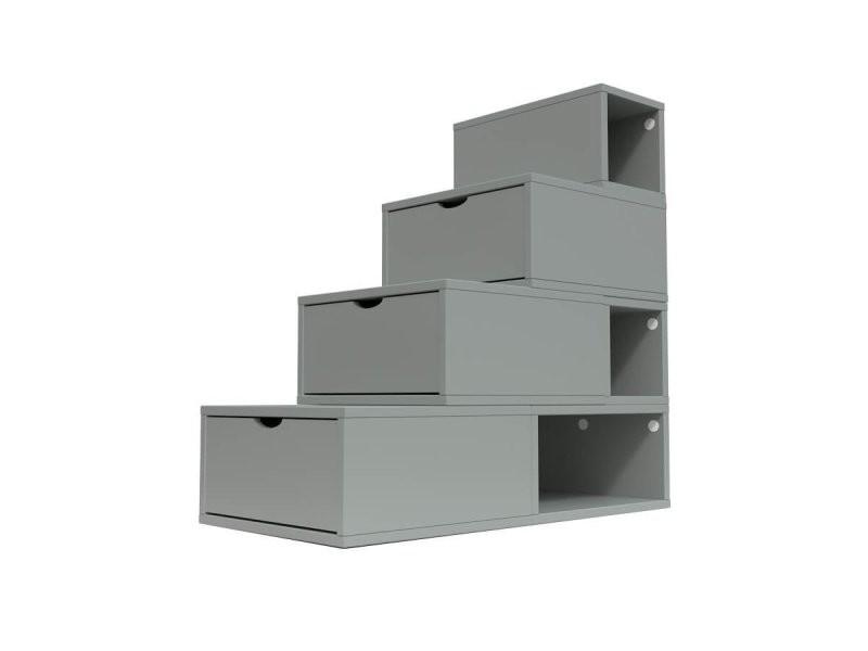 Escalier Cube De Rangement Hauteur 100 Cm Gris Esc100 G Vente De Abc Meubles Conforama