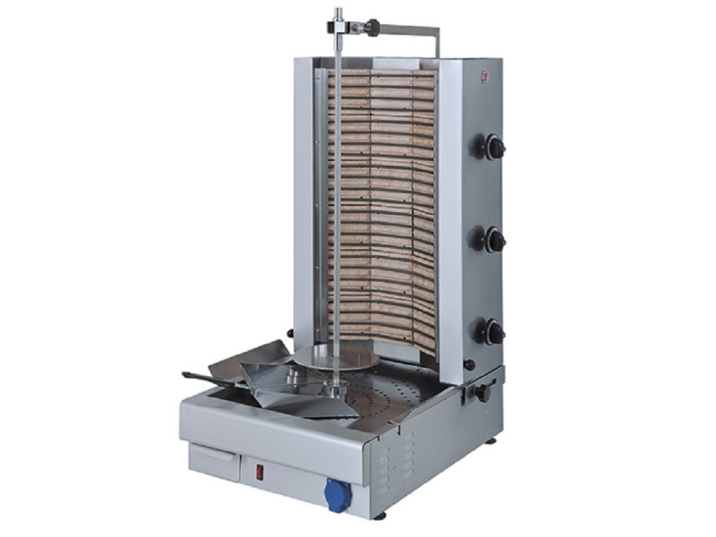 Gyros grill electrique triphasé - 75 kg - virtus - acier inoxydable