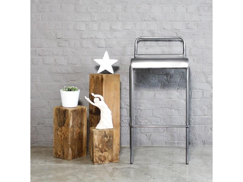 tabouret de bar industriel en m tal gris s17bar en. Black Bedroom Furniture Sets. Home Design Ideas