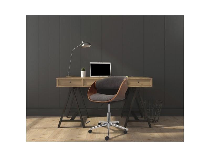 Chaise de bureau rétro tissu gris vente de the concept factory