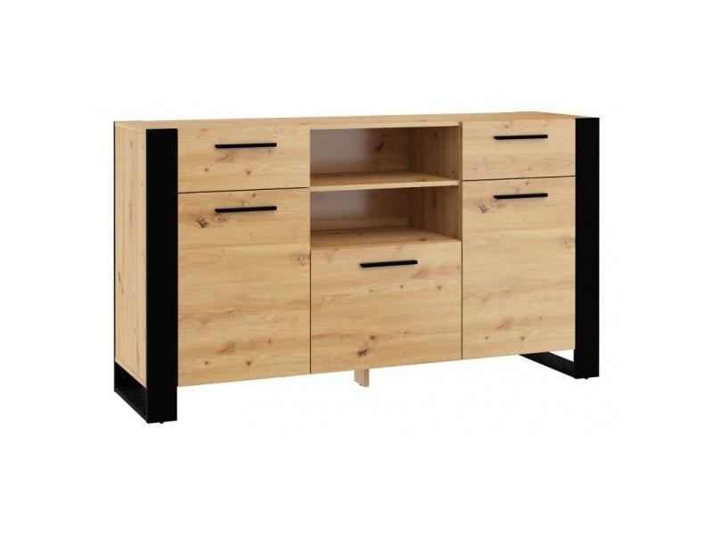 Commode rangement meuble nuka c 87x155x45cm (hxlxp) design moderne de haute qualité