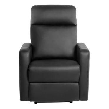 Fauteuil relax fauteuil de relaxation manuel simili noir