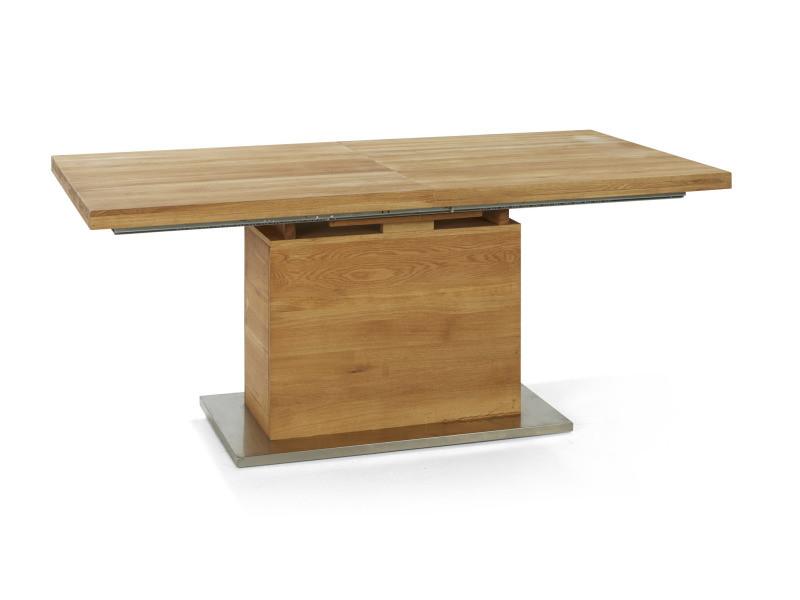 Halden table repas extensible allonges papillon en bois massif chêne