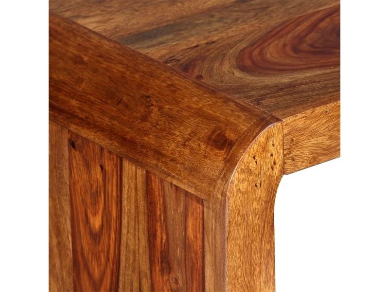 Bureau En Bois Massif : Vidaxl buffet bureau bois massif de sesham marron vente de