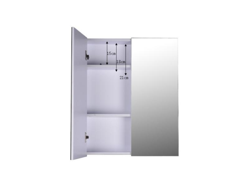 Armoire miroirs vérona blanche