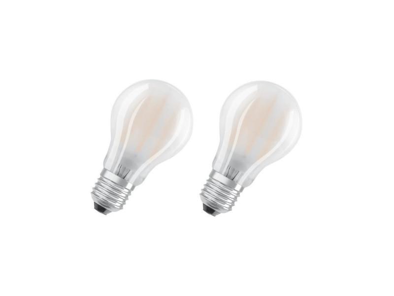 Osram lot de 2 ampoules led e27 standard dépolie 7 w équivalent a 60 w blanc chaud