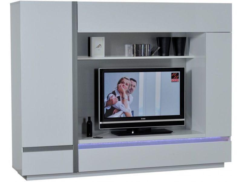 Meuble Tv Mural Blanc Laqué Avec Led P 4233 Co Venezia Vente De