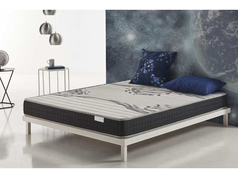 matelas genesis 80x190 cm mousse hr active latex® - blue latex® - 17