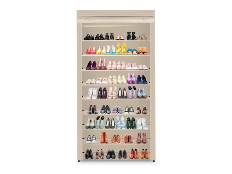 Range Chaussures Avec Housse Taupe 50 Paires Ahm50u Garnier Vente De Garnier Conforama