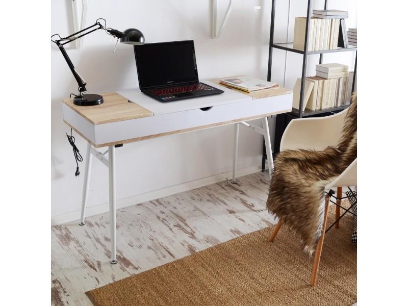 Bureau scandinave bureau design visby cm blanc effet