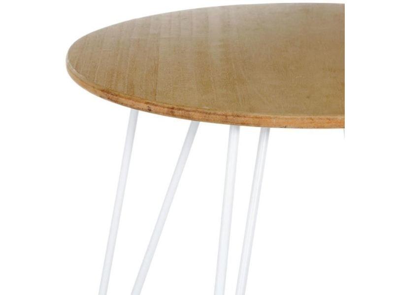 Bout de canape bout de canapé- style scandinave - blanc - l 48 x l 48 x h 45 cm