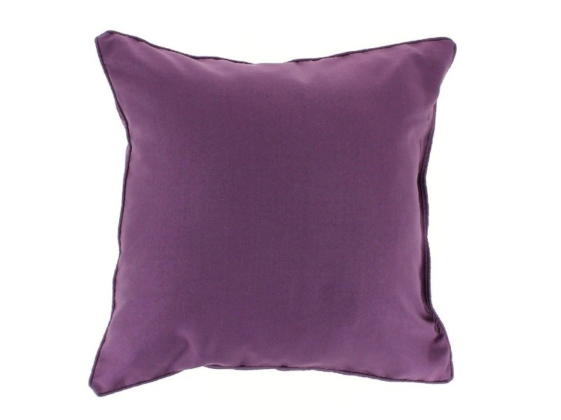 Coussin passepoil 40 x 40 cm prune