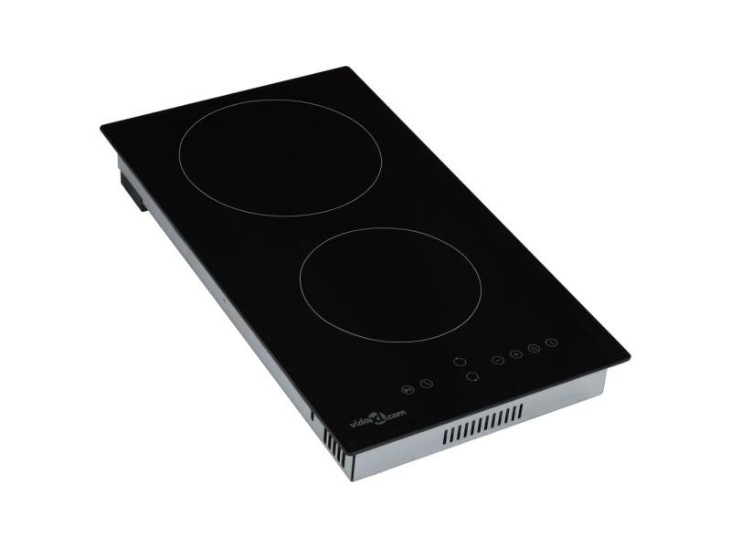 Icaverne - tables de cuisson selection plaque de cuisson céramique 2 brûleurs contrôle tactile 3000 w