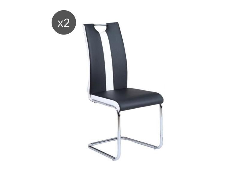 Jade lot de 2 chaises de salle a manger noires vente de - Conforama chaises salle a manger ...