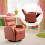 Fauteuil grand confort inclinable design contemporain pour enfants à partir de 3 ans orange brique neuf 11