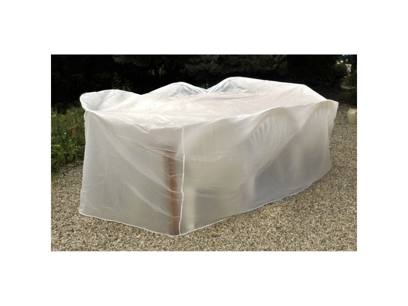 Housse de protection / bâche pour salon et table de jardin - blanc ...