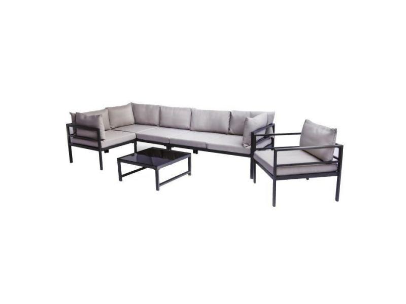Salon de jardin - ensemble table chaise fauteuil de jardin salon de ...