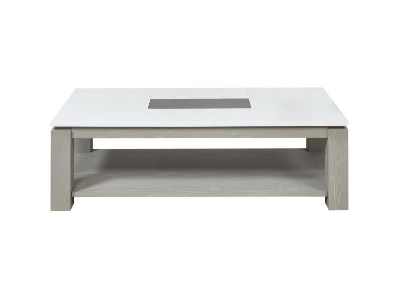 Subleem table basse bois plymouthkaffe gris et blanc