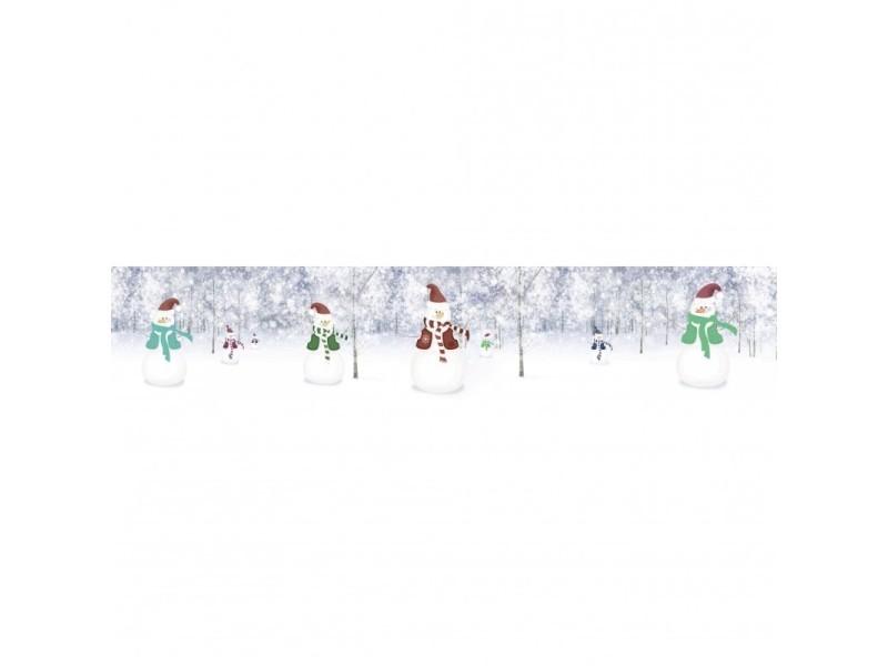 Brise vue 80% occultant bonhommes de neige 500 x 100 cm - décoration extérieure brise vent de jardin, balcon ou terrasse