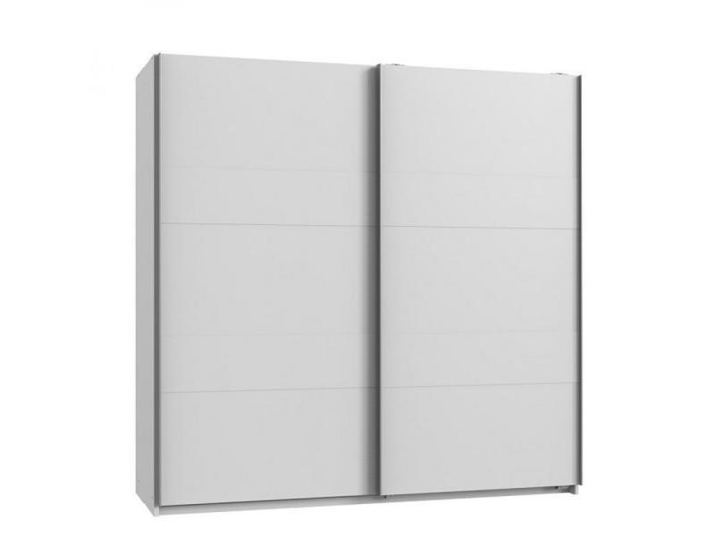 Armoire de rangement aude portes coulissantes 179 cm blanc mat 20100890993