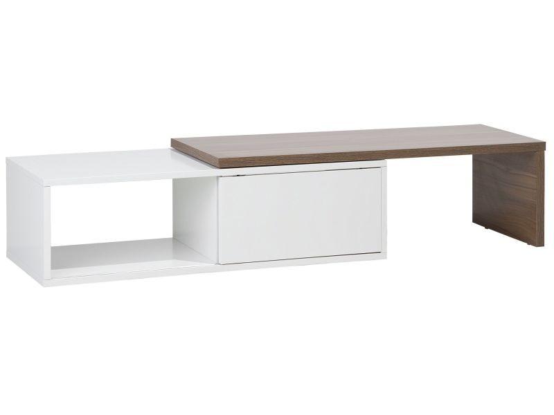 Meuble tv blanc marron yonkers 120586
