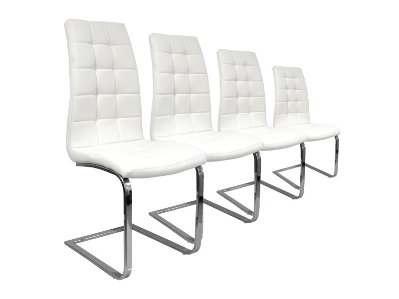 Lot 4 Chaises S Design By Paolo Collaner Blanc