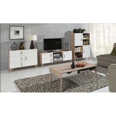 Ensemble design pour votre salon oslo biblioth que meuble tv table basse petit buffet - Petit buffet salon ...