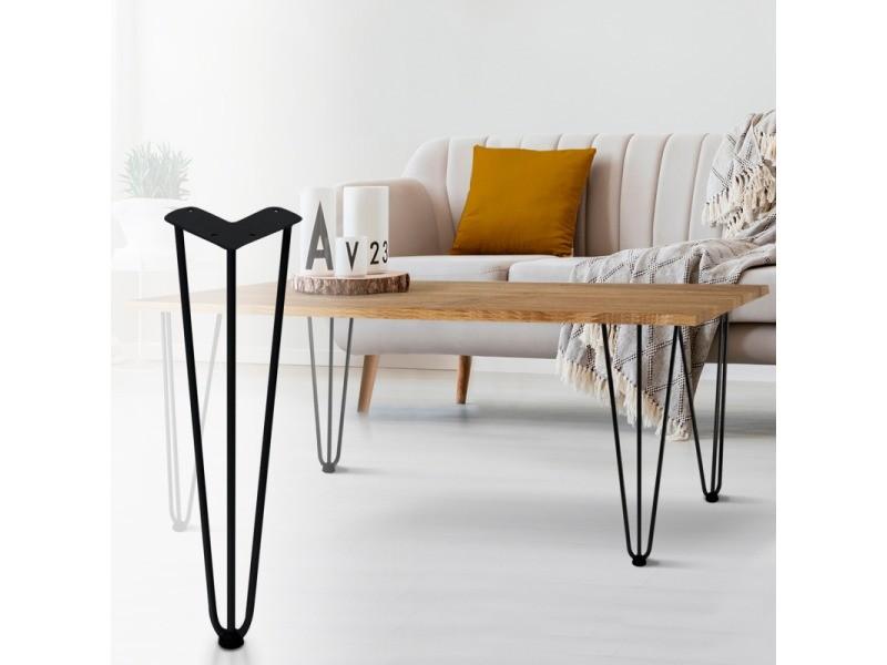 Lot de 4 pieds épingle 40.5 cm pour table design industriel