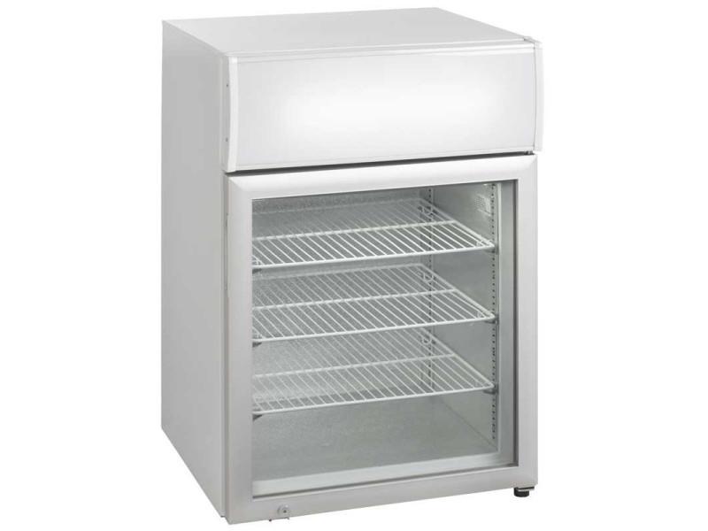 Mini armoire négative de comptoir avec canopy porte vitrée - 90 litres - r290 1 porte vitrée