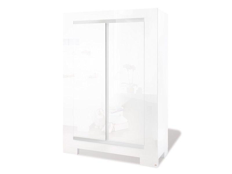 Armoire design 120 x 175 cm à 2 portes en mdf coloris blanc p-24328-co sky